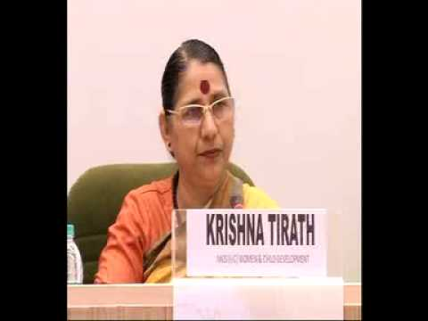 Smt.Krishna Tirath, WCD Minister interacted with media at NationalEditors'Conference-Part5