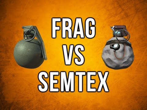 Black Ops 2 In Depth - Frag vs. Semtex (Damage, Radius, Area, & More)