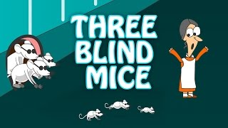 Three Blind Mice | Nursery Rhyme With Lyrics | Popular English Rhymes For Kids