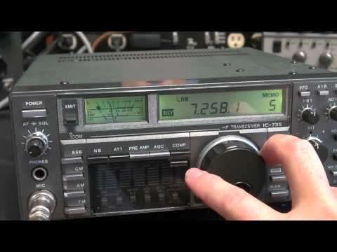 Icom IC-735 Ham Radio HF Transceiver Checkout QSO Demo