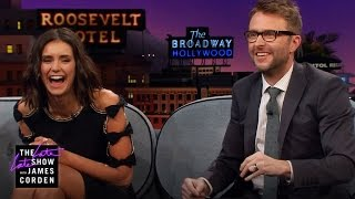 Chris Hardwick & Nina Dobrev Don't Agree on Cats