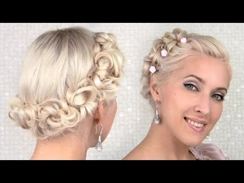 Glamorous vintage updo for special occasions