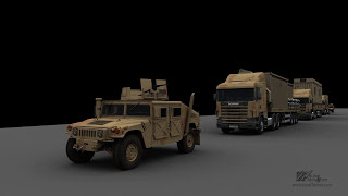3ds Max : Trailer, Semi Crane Rigging, Animation Test