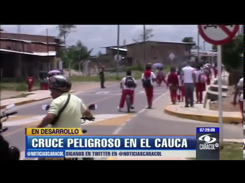 En video quedó registrado aparatoso accidente en Cauca - 12 de abril de 2013