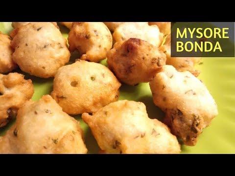 Mysore Bonda recipe | Mangalore bajji | Mysore Bajji | Ulundu bonda
