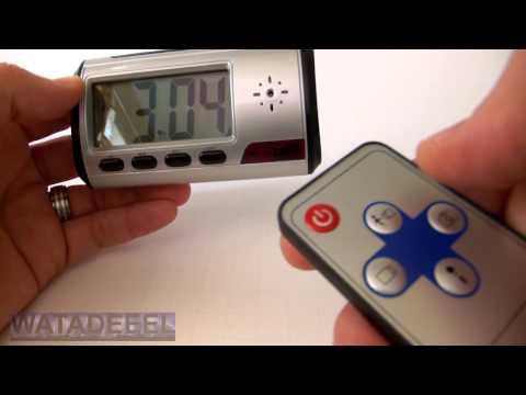 Digital Spy Camera Clock - with Motion Activation DEMO!