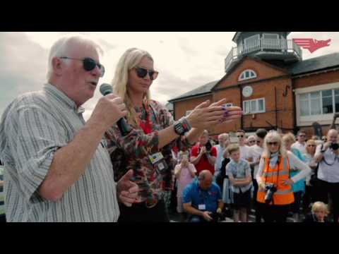 Jodie Kidd unveils the Best of Italy Race Maserati Super Monoposto at Brooklands Museum 17July 2016