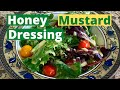 Healthy Honey Mustard Dressing Is Perfect For salads, Sandwiches & Veggies & Dipping Sauce