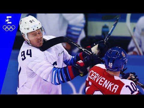 Ice Hockey | Czech Republic v USA | Men's Quarter-Final Highlights | Pyeongchang 2018 | Eurosport