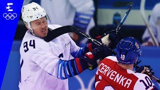 Ice Hockey  Czech Republic v USA  Mens Quarter-Final Highlights  Pyeongchang 2018  Eurosport