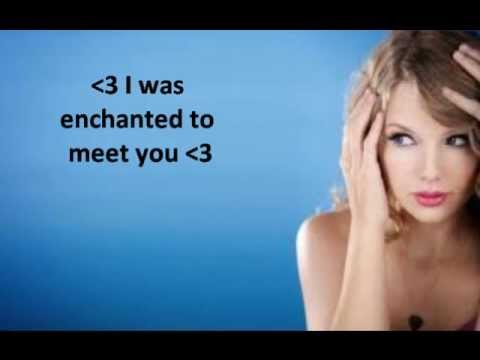 Enchanted Taylor Swift  Lyrics