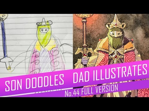 DRAWING with my kids - RED CRYSTAL MAGE [FULL VERSION] No.44