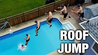 INSANE ROOF JUMPING INTO POOL!