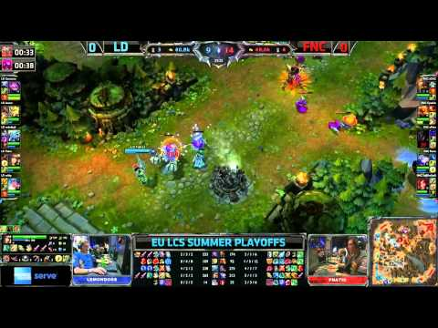 FNC vs LD | Fnatic vs Lemondogs Game 1 | 1st place decider European LCS Playoffs finals | GamesCom