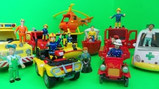 Feuerwehrmann Fireman Sam What's in his Lunch Box Full Episode of Surprise Toy Openings