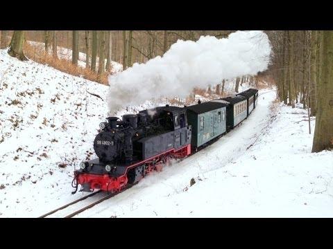Rasender Roland im Winter 2013 Rügen Rügensche Kleinbahn RüBB RüKB BR99 99 4802 Паровозы
