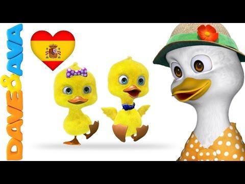 🖐️ Canciones Infantiles   Canciones para Bebés de Dave y Ava   Cinco Patitos 🖐️