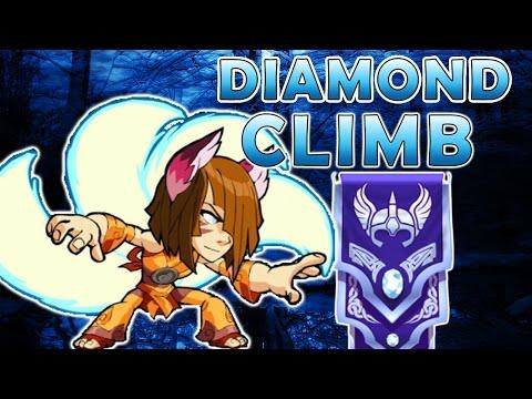 Yumiko To Diamond - Bow And Hammer Brawlhalla Gameplay