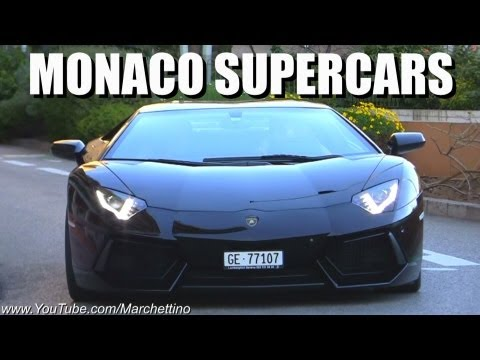 Supercars in Monaco - Aventador, Enzo, R8 V10 & More!