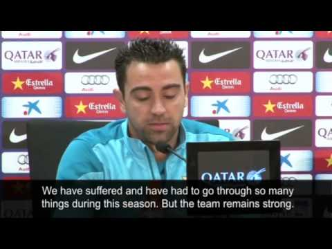 Barcelona's Xavi on Atlético Madrid and transfer ban video Football 2014