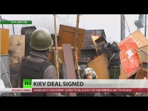 Government and opposition reach uneasy truce in Ukraine