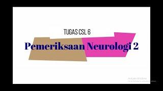 Laurensius Amedeo S 1718011119 Pemeriksaan Neurologis 2 CSL 6