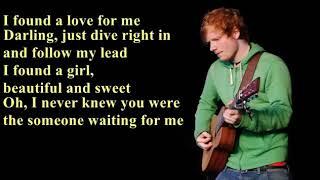 Ed Sheeran - Perfect [ lyrics ]
