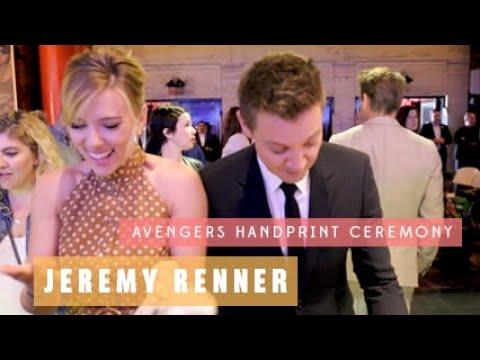 Jeremy Renner - Avengers Endgame Handprint Ceremony