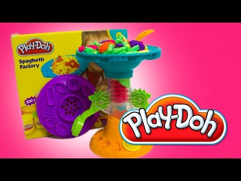 PLAY-DOH Spaghetti and Pasta Factory How to Make PlayDough Pasta Play Doh