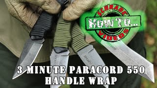 3 Minute Paracord Knife Handle Wrap - Best Simple and Easy 550 Paracord Survival Handle Wrap Schrade