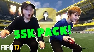 FIFA 17 | OMG! 55K PACK OPENING, WALK OUT!! | Crash Brothers Gaming
