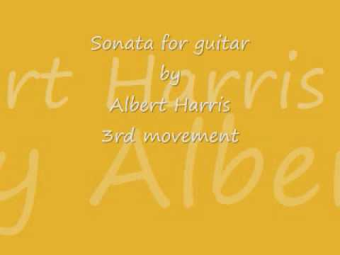 Christophe Pratiffi plays Sonata (3rd movement) by Albert Harris