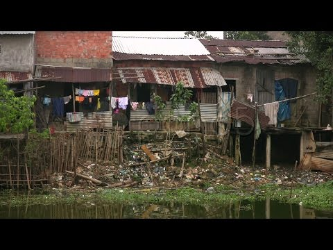 Poverty Slum Housing Vietnam Poor Slum House Dirty Asia Malaria Disease Urban. Stock Footage