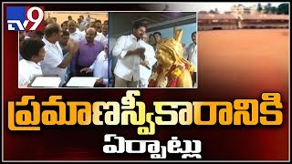 Grand arrangements for YS Jagan swearing-in ceremony as new AP CM