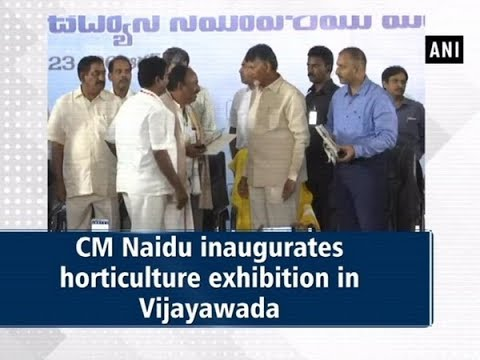 CM Naidu inaugurates horticulture exhibition in Vijayawada - #ANI News