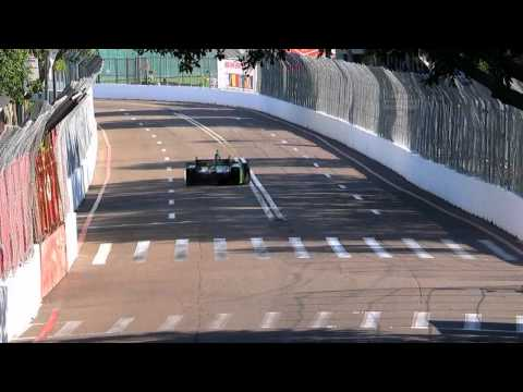 Sebastien Bourdais dodges a squirrel