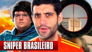 Assistindo SNIPER BRASILEIRO do TECNOSH, as MELHORES jogadas no PUBG Battlegrounds IMPRESSIONANTE