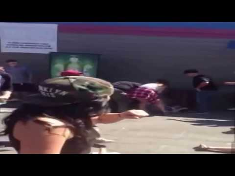 Woman Knocked Out Cold Down Knocks Her Out Cold