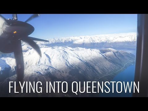 FLYING INTO QUEENSTOWN - NICEST AIRPORT IN THE WORLD?