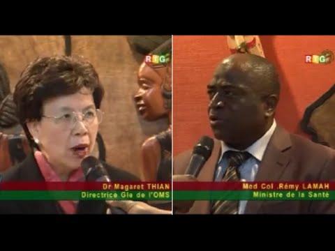 JT RTG 02.08.2014. Dr Margaret Chan, directrice générale de l'OMS à Conakry