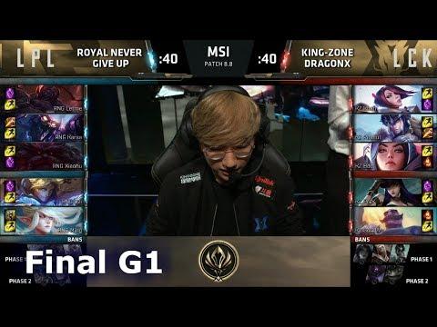 Royal Never Give Up vs Kingzone DragonX | Game 1 Grand Finals LoL MSI 2018 | RNG vs KZ G1