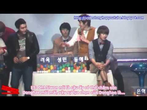VIETSUB 101106 Super Junior Donghae Election Between Eunhyuk Siwon