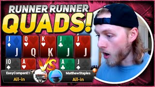 QUADS AT THE FINAL TABLE!!! MattStaples Stream Highlights