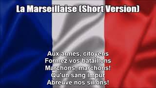 French National Anthem (La Marseillaise) - Short Version (Nightcore Style With Lyrics)