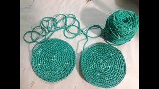 P2.1 Hướng dẫn móc hông túi hình tròn phẳng - How to crochet a Circle- Easy single crochet
