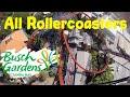 All Rollercoasters @ Busch Gardens Tampa 2019
