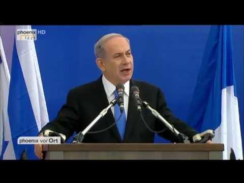 Trauerfeier in Jerusalem mit Reden von Reuven Rivlin und Benjamin Netanjahu am 13.01.2015