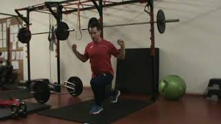 Weights Program Stage 1 Hypertrophy   Day 1 Ex  3 Back Lunge