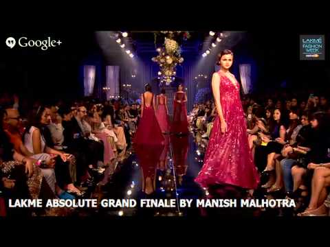LAKME ABSOLUTE  GRAND FINALE BY  MANISH MALHOTRA - LAKME FASHION WEEK WINTER/FESTIVE 2014