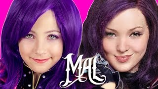 DISNEY DESCENDANTS MAL COSTUME AND MAKEUP TUTORIAL! WICKED WORLD COSPLAY BY PLP TV